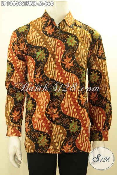 Baju Lengan Panjang Premium baju kemeja batik lengan panjang halus motif klasik