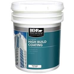 5 gallon white exterior paint behr premium 5 gal white high build exterior paint 470005