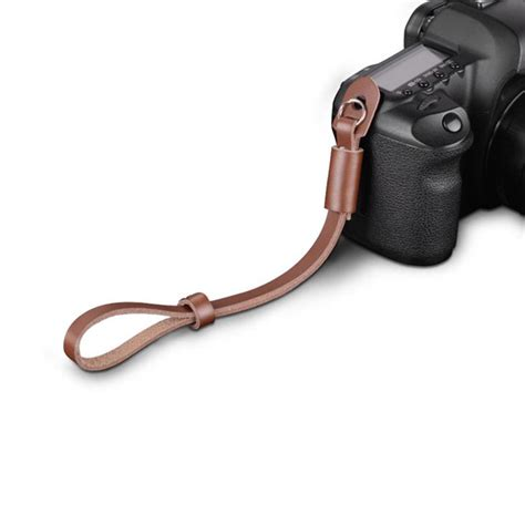Universal Brown Leather Wrist Canon Nikon Sony Dll new pro leather dslr slr wrist grip for universal ebay