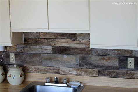 picture of cheap diy rustic kitchen backsplash