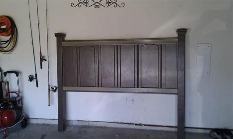 cabinet headboard headboard made out of old cabinet doors this looks