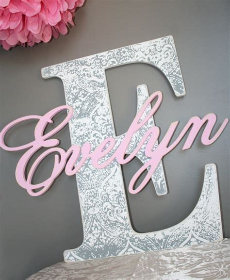 Shaby Mikhayla shabby chic initial name letters