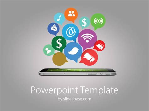 Social Templates by Social Icons Powerpoint Template Slidesbase
