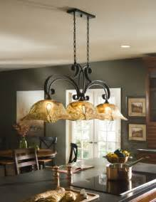 Country Island Lighting Country 3 Light Chandelier Kitchen Island Pendant Iron Glass New Ebay