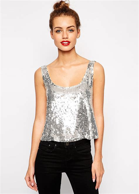 Blouse Squin Top popular silver sequin tops buy cheap silver sequin tops lots from china silver sequin tops