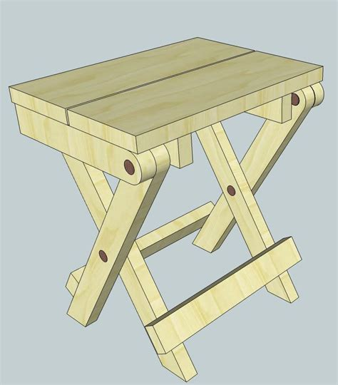 wooden c stool folding more folding stool plans woodworking for mere mortals for