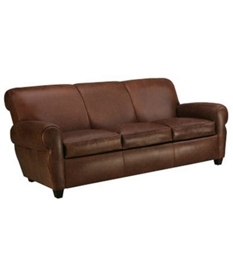 leather sleeper sofa w memory foam mattress upgrade