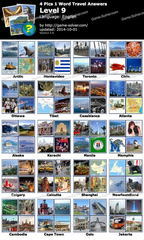 4 In 1 Travel 4 pics 1 word travel level 9 solver