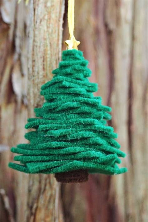 pinterest how to make a tree ornament from a tea cup saicer easy diy felt tree ornament