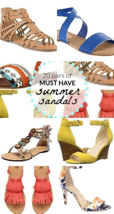 Top 10 Must Sandals by 20 Pairs Of Must Summer Sandals Flats Wedges Heels