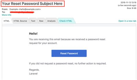 Php How To Change Reset Password Email Subject In Laravel Stack Overflow Forgot Password Email Template