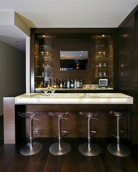 modern bar ideas for basements cortland residence modern basement chicago by