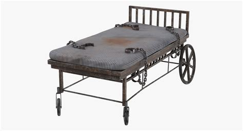 bed restraints 3d model asylum bed restraints