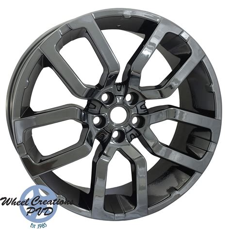 black chrome range rover range rover pvd black chrome wheel wheel creations pvd