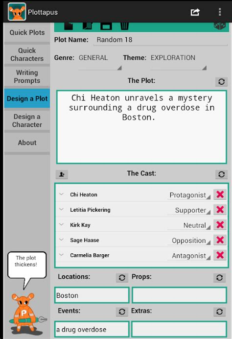 theme generator for stories plottapus story plot generator android apps on google play