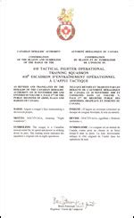 letter of consent 410 tactical fighter operational squadron 1389