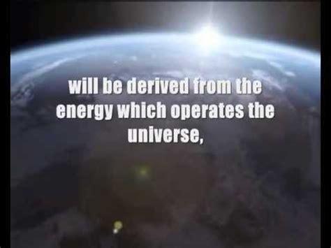 Tesla Cosmic Rays Nikola Tesla Free Energy Generator Patented In 1901