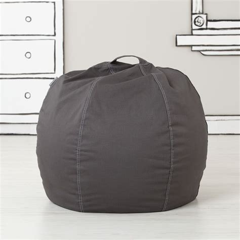 bean bag cover 30 quot bean bag chair cover grey the land of nod