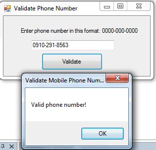javascript pattern matching phone number valid or invalid phone number in vb net free source code
