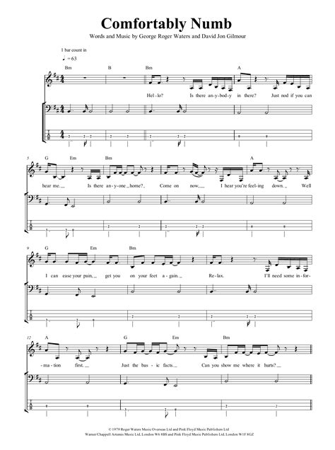 Modern Comfortably Numb Chords Crest - Beginner Guitar Piano Chords ...