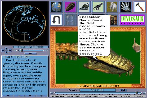 emuparadise adventure games dinosaur adventure 1993 knowledge adventure game