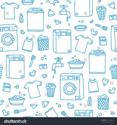 image pattern service laundry service seamless vector pattern 241192057