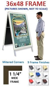 48 X 60 Poster Frame by A Frame 36x48 Sign Holder Snap Frame 1 1 4 Quot Wide Free