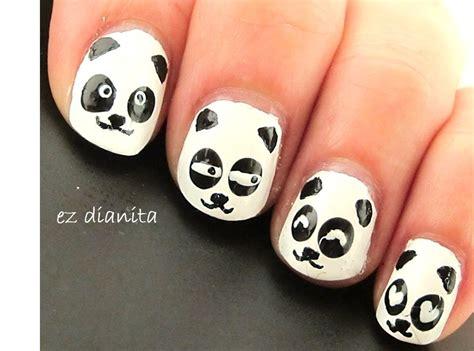 imagenes de uñas decoradas kawaii dise 241 o de u 241 as 22 oso panda estilo kawaii panda nail
