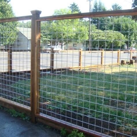 Wood And Wire Trellis Wire Fence Gardening