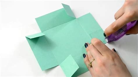 How To Make A Box Using Paper - how to make an easy paper box s day gift diy