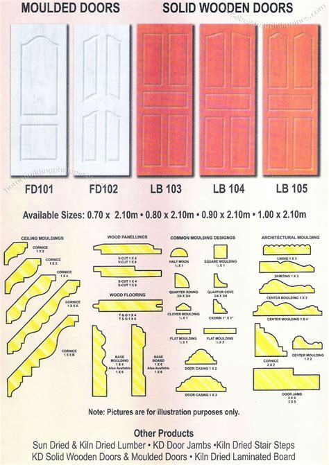 Molded Door, Solid Wooden Door, Wood Moulding Philippines
