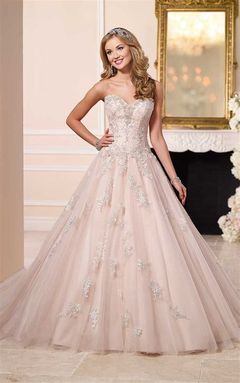 princess ball gown tulle wedding dress stella york