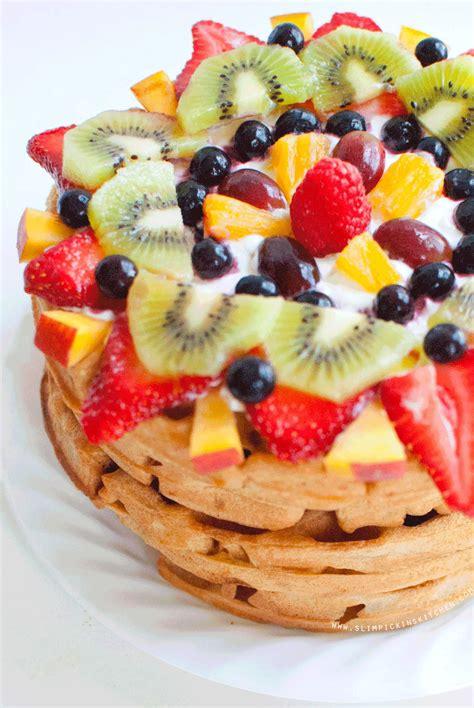 fruit waffles whole wheat fruit pizza waffles