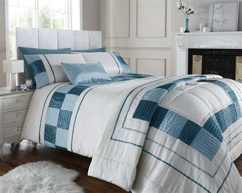 duck egg blue king king quilt duvet cover bed