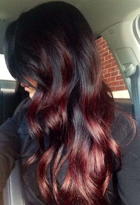 does hair look like ombre when highlights growing out 17 best ideas about dark red balayage on pinterest