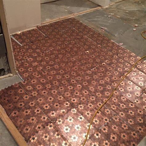 1 Pence Coin Floor - best 25 flooring ideas on pennies floor