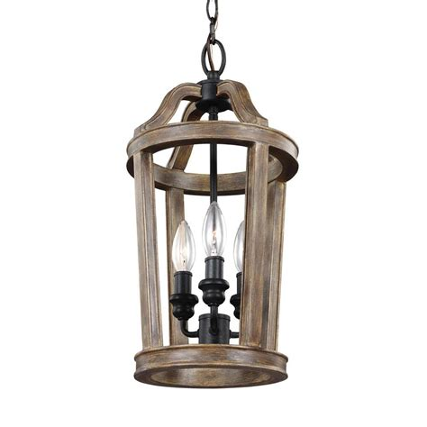 Lantern Pendant Lights Feiss Allier 1 Light Weathered Oak Wood Antique Forged Iron Mini Pendant P1302wow Af The Home
