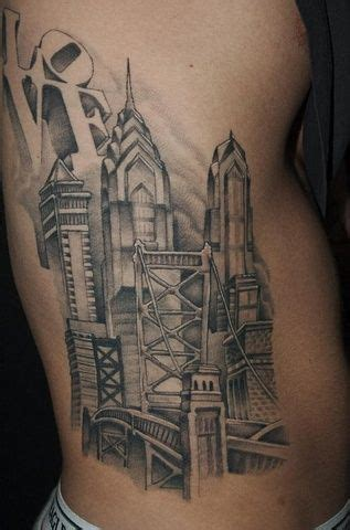 philadelphia skyline tattoo philadelphia skyline