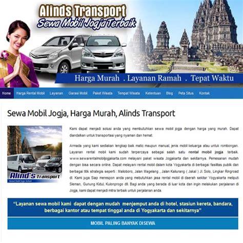 contoh desain kartu nama rental mobil website rental mobil