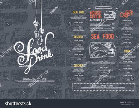 cafe wall menu design restaurant cafe menu brick wall background stock vector