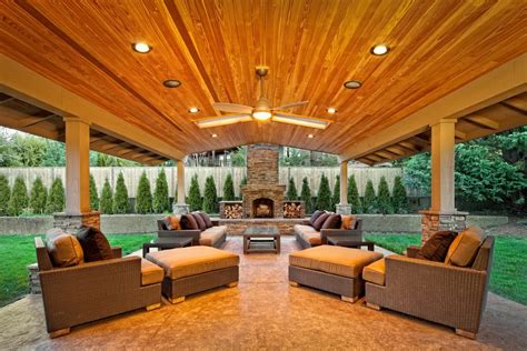 Covered Patio Lighting Outdoor Covered Patio Ideas Patio Traditional With Roof Extension Outdoor Fireplace Outdoor