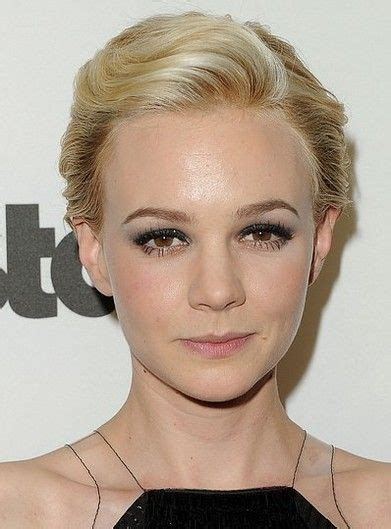 swept back hairstyles for women carey mulligan short haircut retro blond wavy swept back