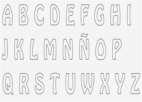 moldes de letras del abecedario para carteleras un poquito de todo abecedarios varios para fieltro o