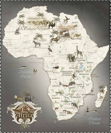 africa zoo map safari map of africa vacation yes