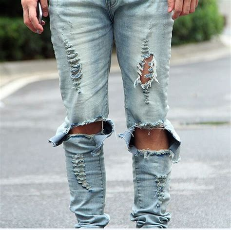 mens light blue jeans ripped mens distressed jeans mx jeans