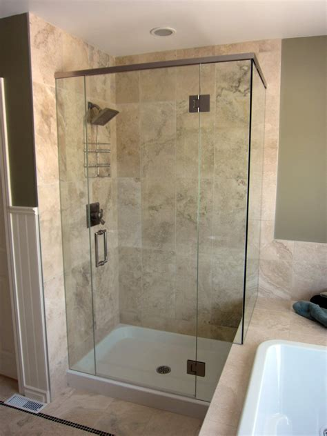 frameless shower door kit corner shower kits with frameless doors useful reviews