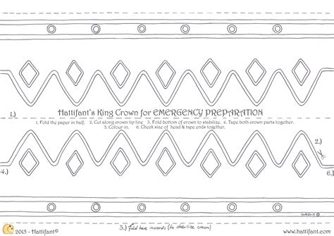 printable children s crown template for emergency dress up 5 minutes crowns hattifant
