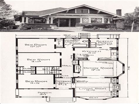 Simple Bungalow House Plans by Simple Small House Floor Plans Vintage Bungalow Floor