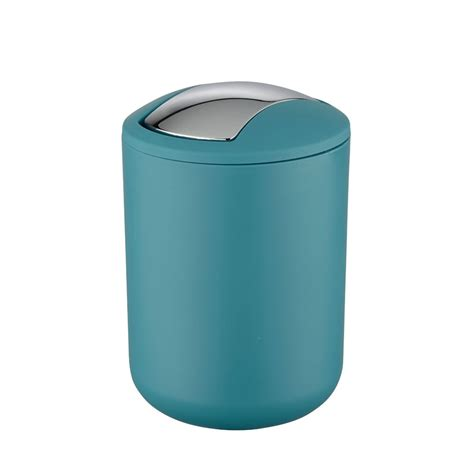 bathroom swing bin wenko brasil petrol swing cover bin available at