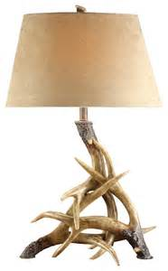 Antler table lamp rustic table lamps by chachkies